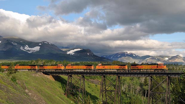 """Two Medicine trestle Montana"" by Loco Steve licensed under CC BY 2.0"