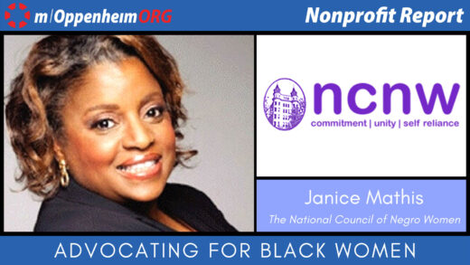 Poster promoting the nonprofit report Janice Mathis