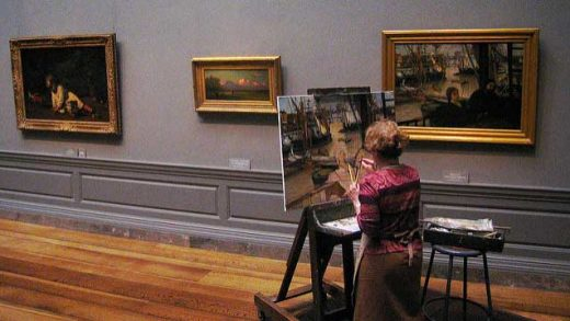 """Painting at the national gallery"" by schizoform licensed under CC BY 2.0"