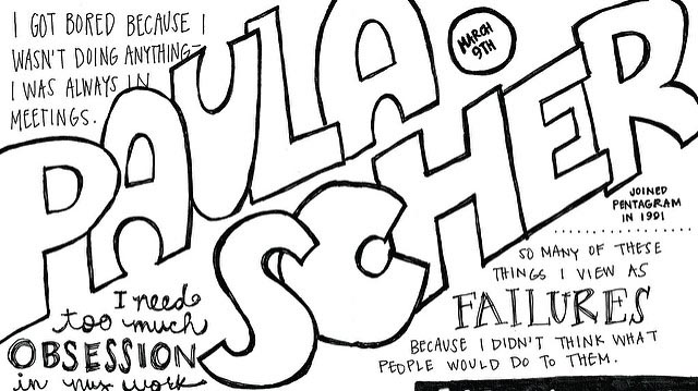 """2012 Sketchnotes + Paula Scher, 1 of 2"" by erinmhawkins licensed under CC BY 2.0"