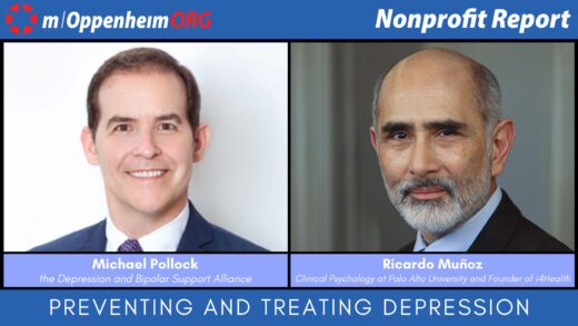 Michael Pollock, CEO of the Depression and Bipolar Support Alliance and Ricardo Munoz, Distinguished Professor of Clinical Psychology at Palo Alto University and Founder of i4Health.