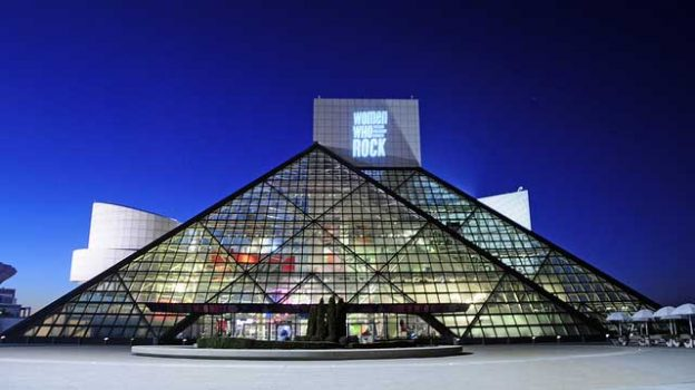 """""""Rock and Roll Hall of Fame, Cleveland, Ohio"""" by Tony Fischer licensed under CC BY 2.0"""
