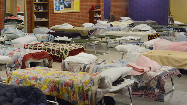 """Homeless Shelter Stays Open in Preparation for Storm"" by KOMUnews licensed under CC BY 2.0"