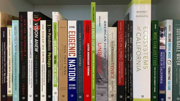 """Stack of Book"" Photo courtesy of University of California Press Foundation"
