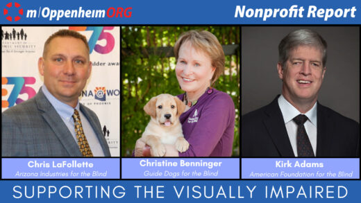 Christine Benninger, President and CEO of Guide Dogs for the Blind; Kirk Adams, President & CEO of the American Foundation for the Blind and Chris LaFollette, President & CEO of Arizona Industries for the Blind.