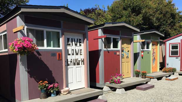 """Tiny Homes in Seattle"" Photo courtesy of Low Income Housing Institute."
