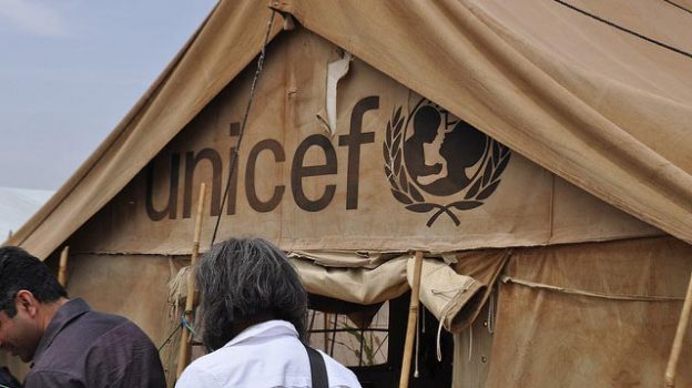 """UNICEF Tent"" by Sudan Envoy licensed under CC BY 2.0"