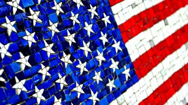 """The American Flag mozaic art"" by Renee Eppler licensed under CC BY 2.0"