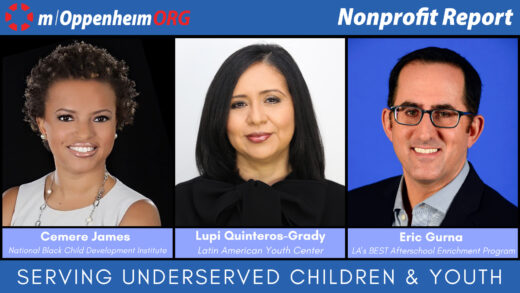 Eric Gurna, President & CEO of LAs BEST Afterschool Enrichment Program; Lupi Quinteros-Grady, President & CEO of the Latin American Youth Center; and Cemere James, Interim President & CEO of the National Black Child Development Institute.