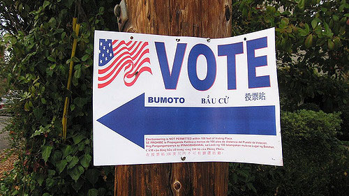 """Vote!"" by hjl licensed under CC BY 2.0"