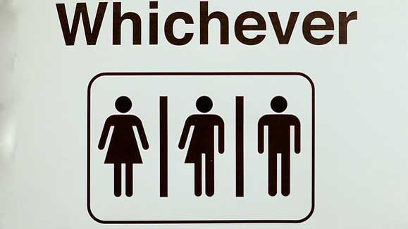 """Bathroom Sign"" by Shelly Prevost licensed under CC BY 2.0"